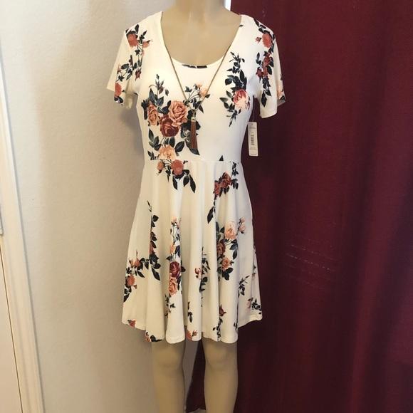 407ddd570 Justify Dresses | Beautiful Floral Dress Necklace Nwt | Poshmark